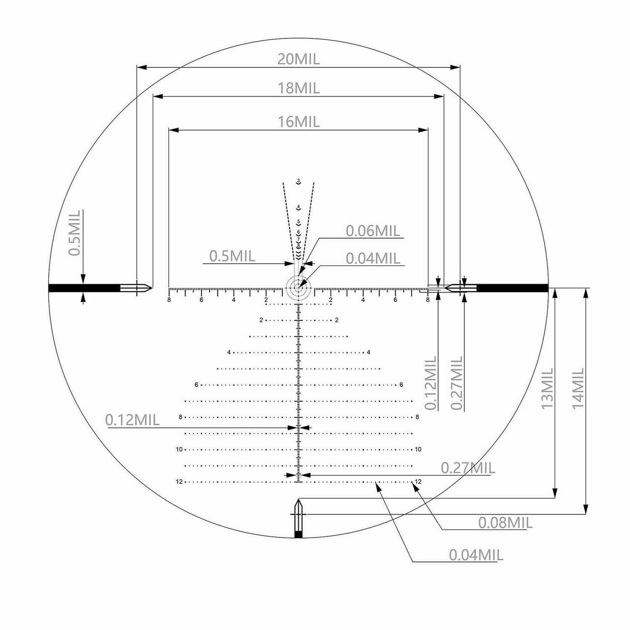 Arken Optics EP4 6-24X50 FFP MIL with Zero Stop 34mm Tube