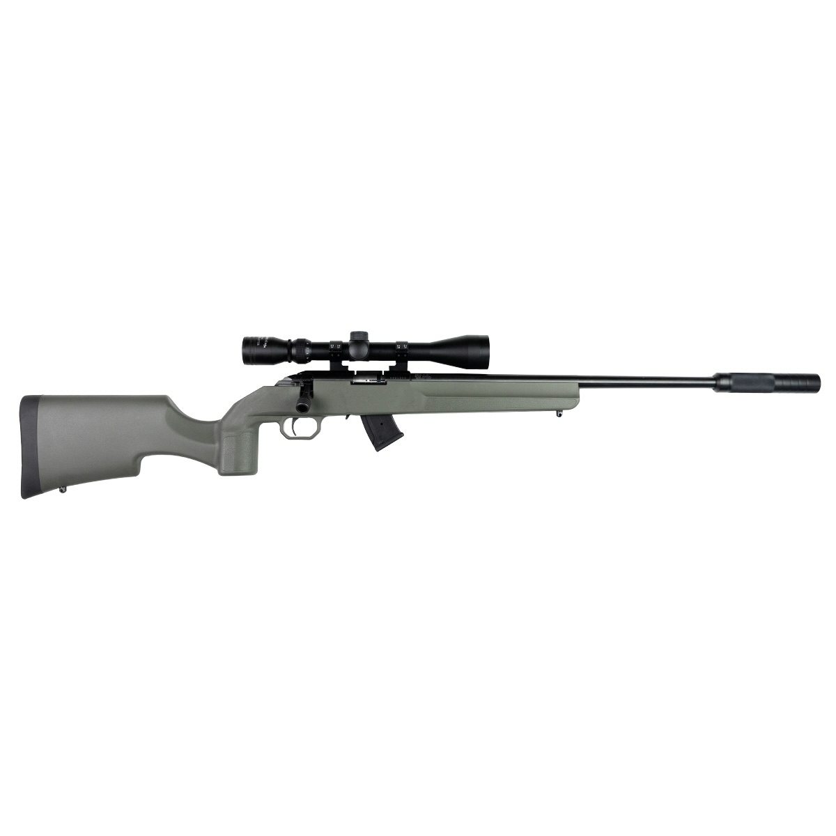 Howa M1100 22WMR Scoped Suppressed Package