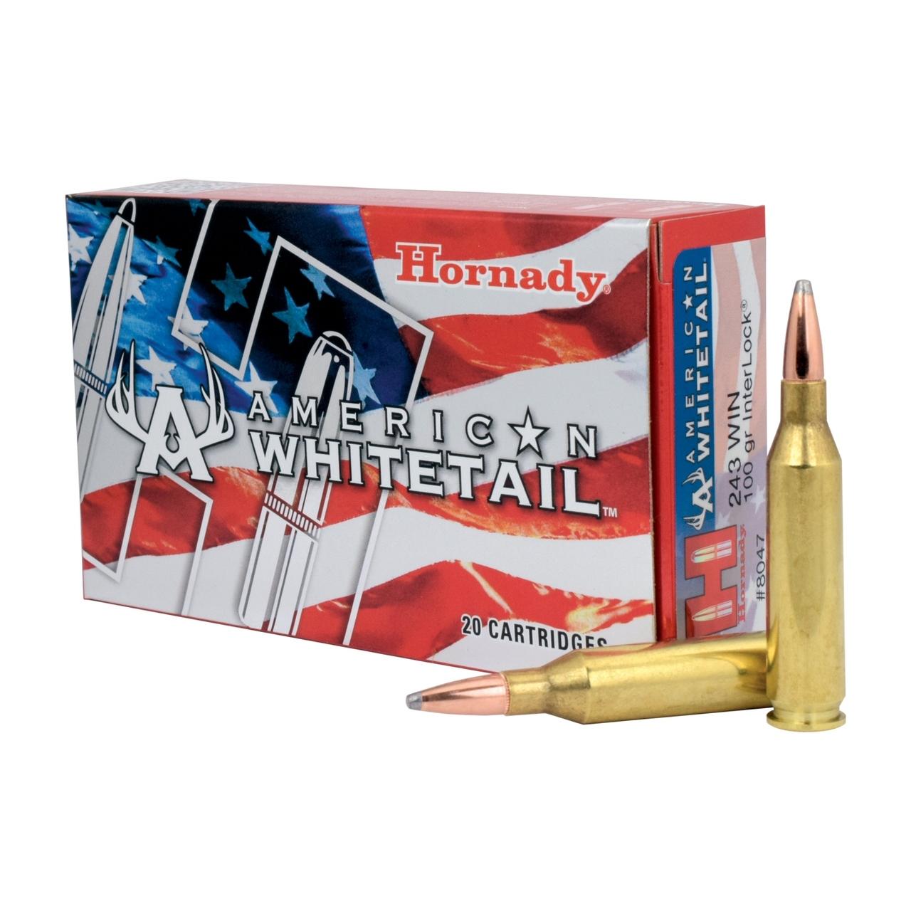 Hornady 243 Win 100gr Interlock SP American Whitetail