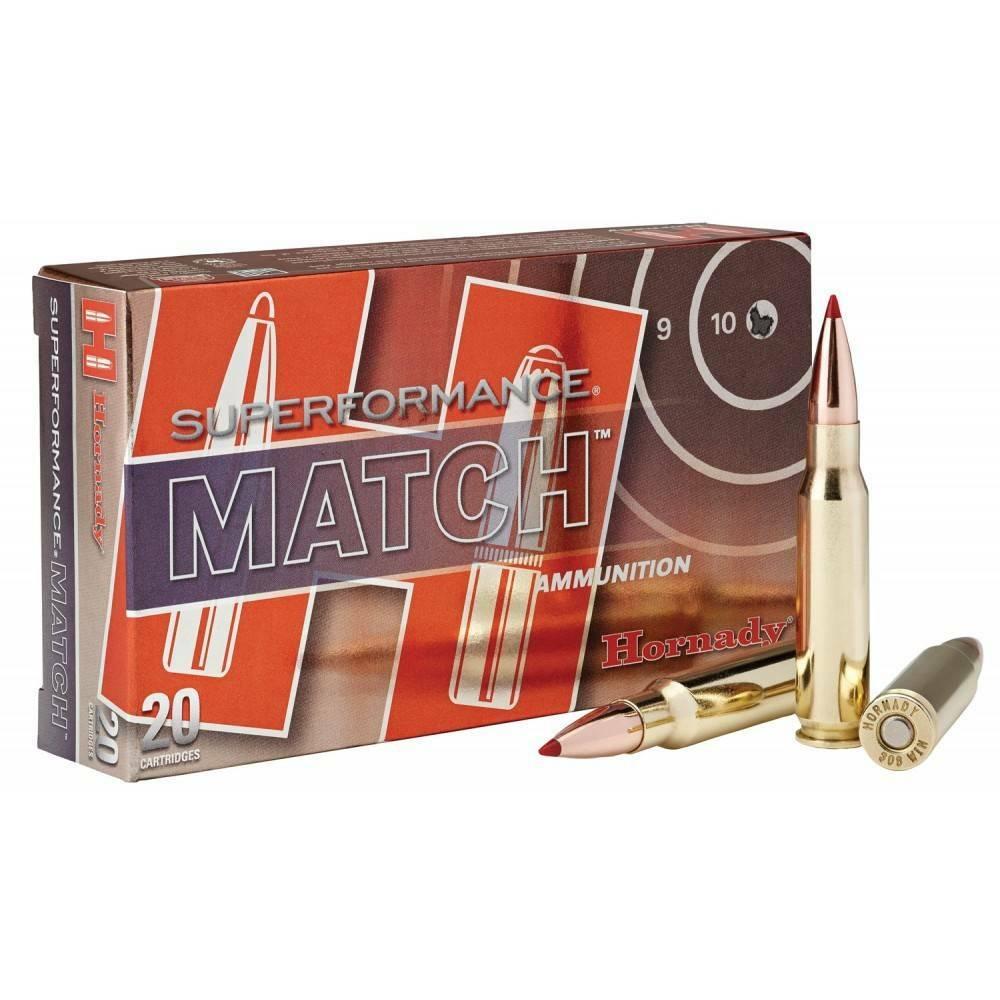 Hornady 308 Win 178gr BTHP Superformance Match
